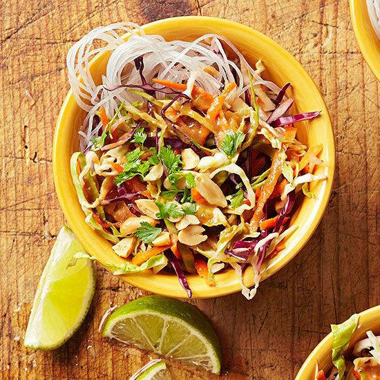 Cabbage and Carrots Salad with Peanut Sauce