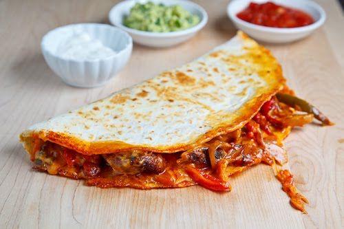 Chicken Fajita Quesadillas   Recipe