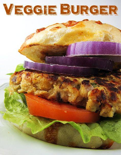 Sweet Potato Chickpea Veggie Burger | Vegetarian Recipes | Pinterest