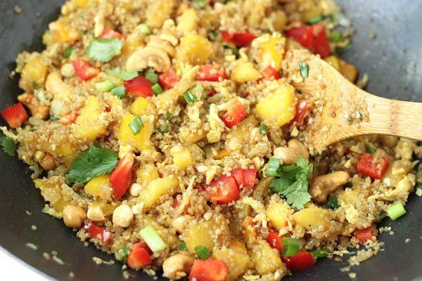 Pineapple Cashew Quinoa 'Fried Rice' | Recipe
