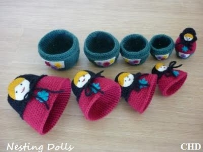 Matryoshka, Babushka, Nesting Dolls - Anything Knitted
