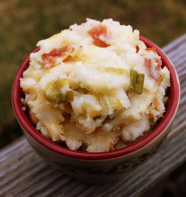 Mashed Potato Casserole with Smoked Gouda and Bacon