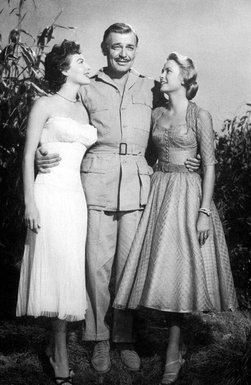 Gable Grace Kelly Publicity Still For John Ford's Mogambo 1953
