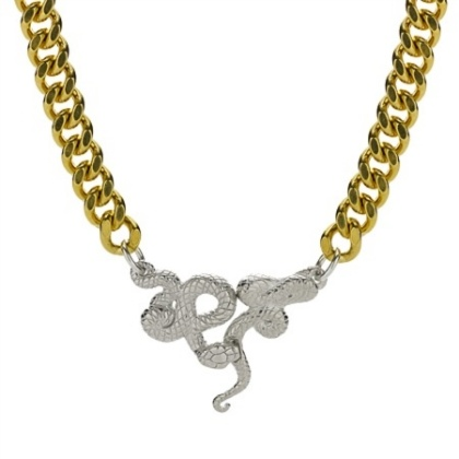 I love snakes... in my jewelry.  It is actually a common Victorian wedding jewelry theme.  A fav of mine too.  # www.kimberlybaker.com