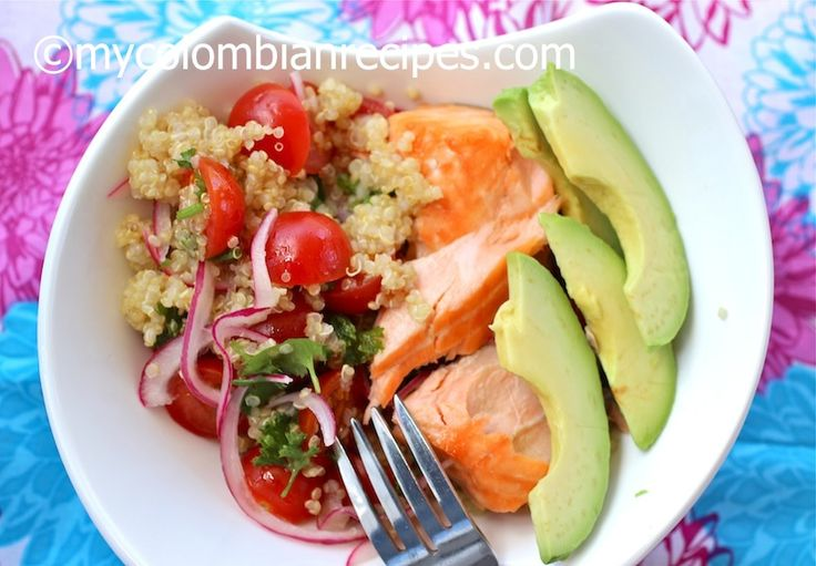 Quinoa, Salmon and Avocado Salad | Stuff for Liannes crazy diet | Pin ...