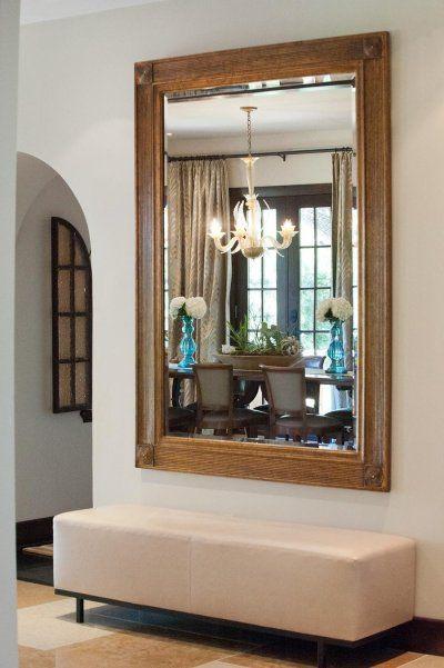Large Mirror Small Foyer : Big mirror short bench quot diy home decor ideas pinterest