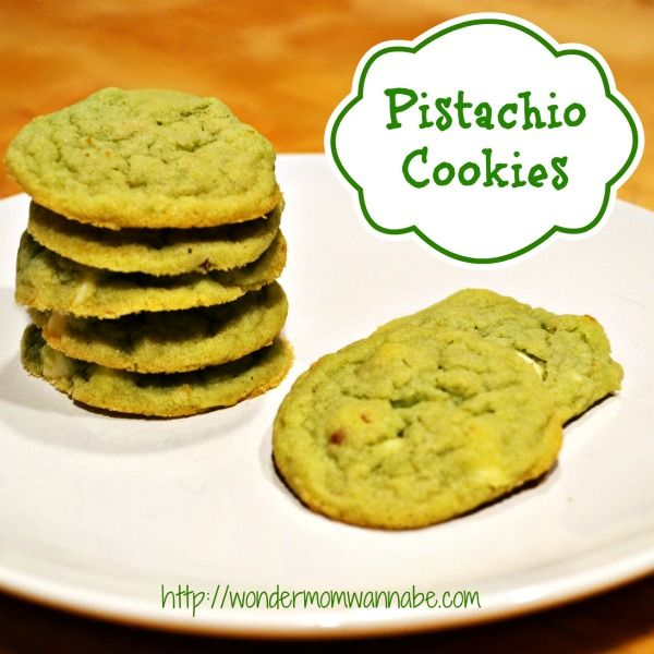 delicious pistachio white chocolate chip cookies by wondermom wannabe