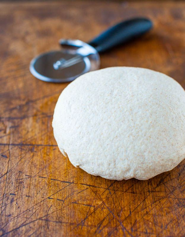 ... white whole wheat four)One Hour Whole Wheat Pizza Dough (vegan