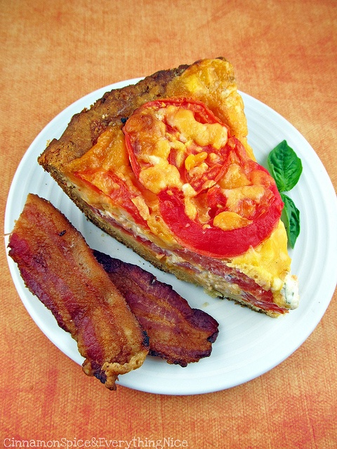 Tomato, Cheddar and Bacon Pie. I want all my meals in pie form.