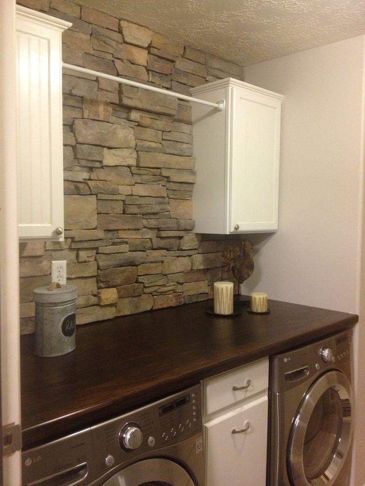 Brick Backsplash In Laundry Room For The Home Pinterest