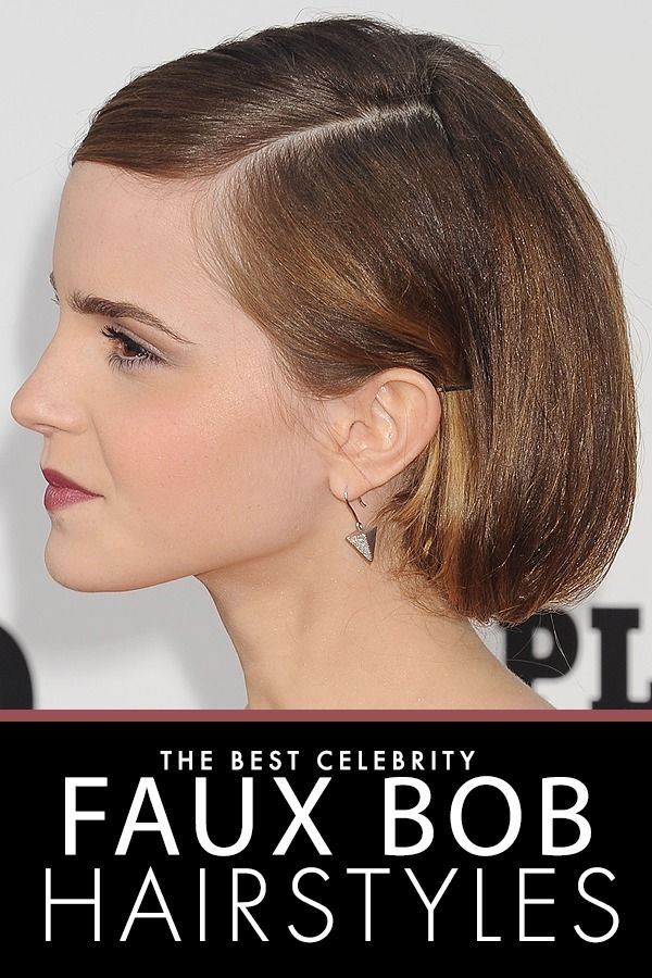 female shaved hairstyles : Our 10 Favorite Celebrity Faux Bob Hairstyles