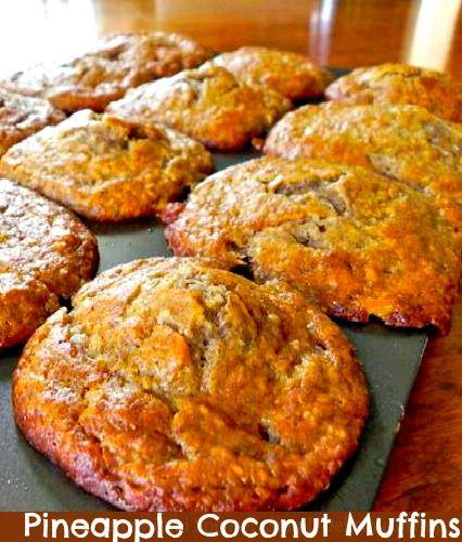Coconut Pineapple Muffins Recipe — Dishmaps