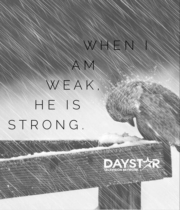 He is strong