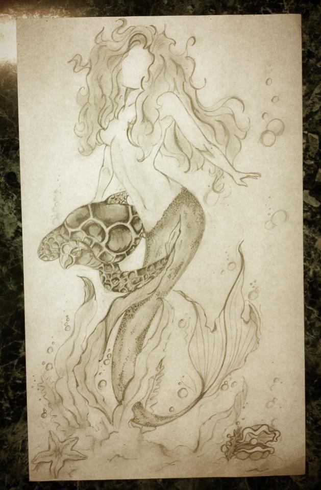 Mermaid pencil drawing | Art, etc... | Pinterest