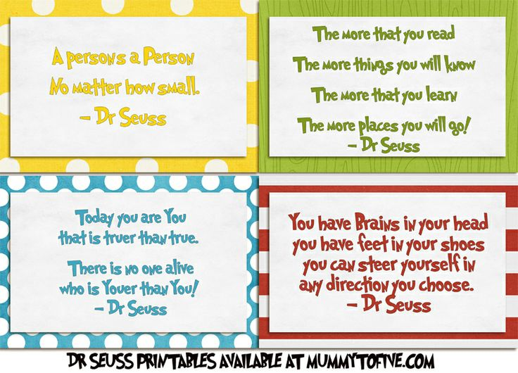 Dr. Seuss Printable Quotes