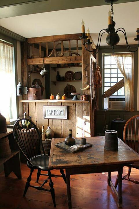 Colonial Primitive Kitchen Cabinets