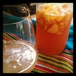 Peach Ginger Shrub. If you've never tasted a shrub, try it out!