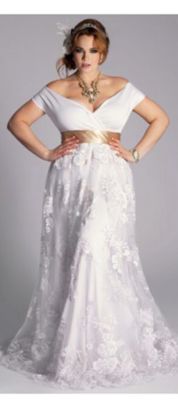 Plus size wedding dress for older brides wedding for Wedding dresses for older plus size brides