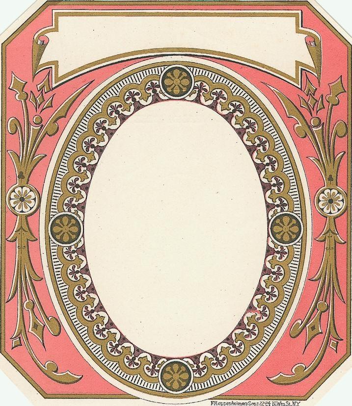 blank vintage label | Digi scrapbook | Pinterest