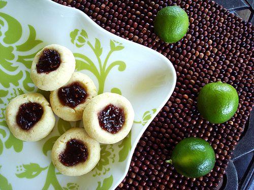Key Lime Raspberry Thumbprint Cookies - yumm!!!