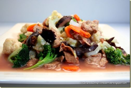 Vege stir fried with fermented bean curd | Healthy | Pinterest