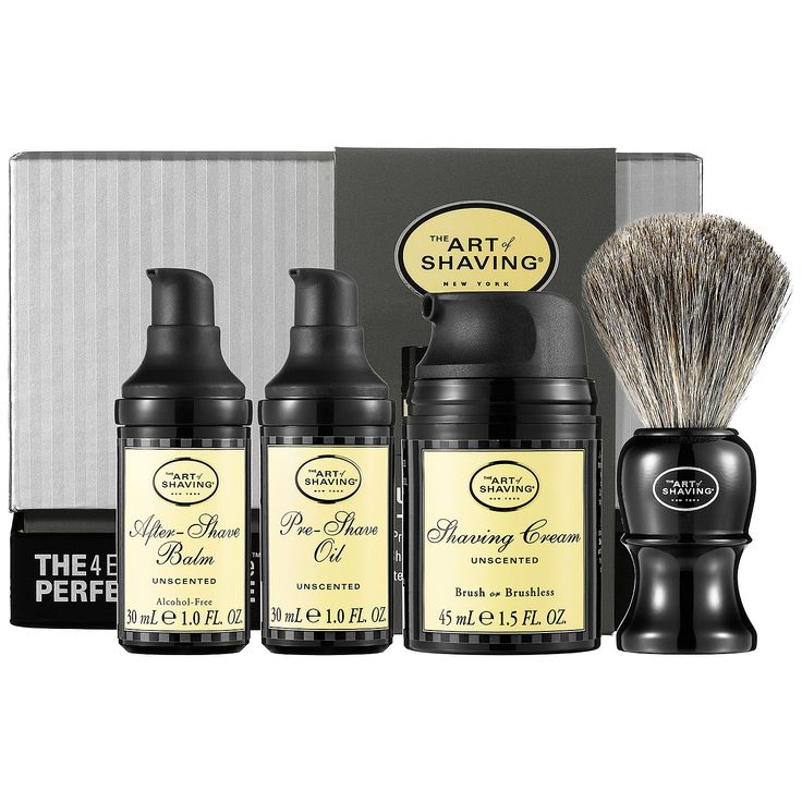 The 4 Elements of the Perfect Shave™ Carry-On - Unscented - The Art of Shaving | Sephora