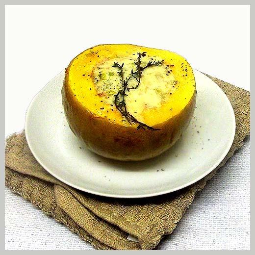 Leek and gruyere stuffed squash | Food | Pinterest