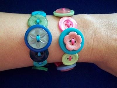 Button bracelets...could be cute