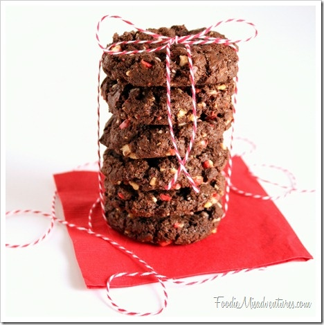 Double Chocolate Peppermint Crunch Cookies   Recipe