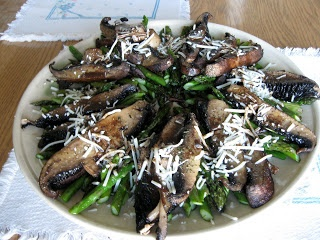 ... Roasted Portobello and Asparagus Salad with Parmesan and Balsamic