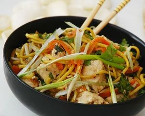 contrasting flavours work well together in ching he huang s chow mein ...