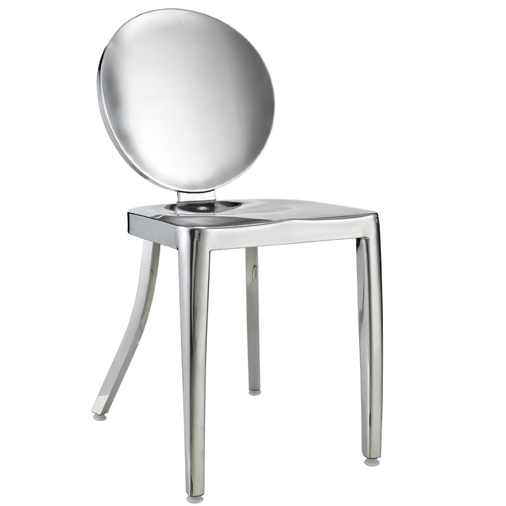 Victoria ghost chair in polished stainless steel kitchen amp dining