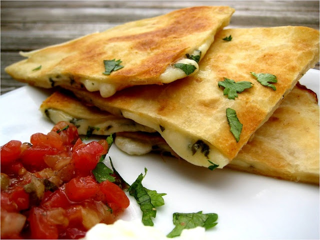 Asparagus and goat cheese quesadillas | Herbi**ore diet | Pinterest