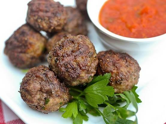 Italian style grilled meatballs