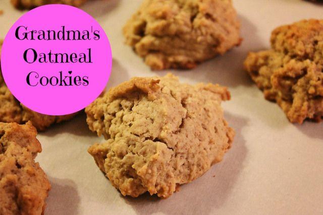 Grandma's Oatmeal Cookie Recipe | Cooking | Pinterest