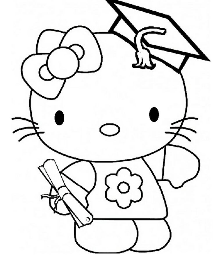 coloring pages of graduation - photo#22
