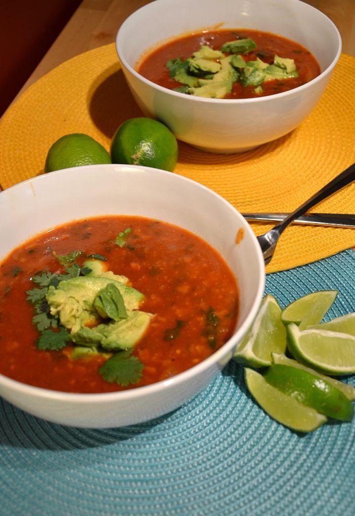 Amazing Vegan Tortilla Soup #veganrecipes #tortillasoup # ...