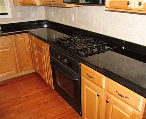 Unsightly old counter tops can temporarily become granite with ...
