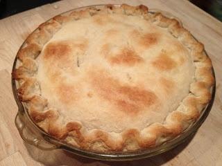 Creamy Chicken Pot Pie. Cook chicken & make crust in morning or night ...