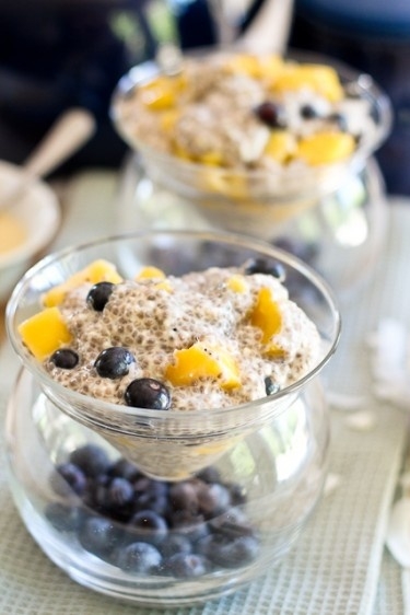 Overnight Mango Blueberry Chia Seeds Pudding | by Sonia! The Healthy ...