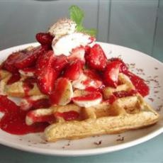 cornmeal waffles - I didn't have any wheat flour or stone ground ...