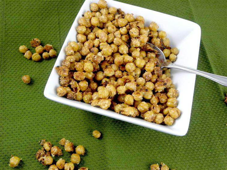Garlic Parmesan Roasted Chickpea Snack | Recipe