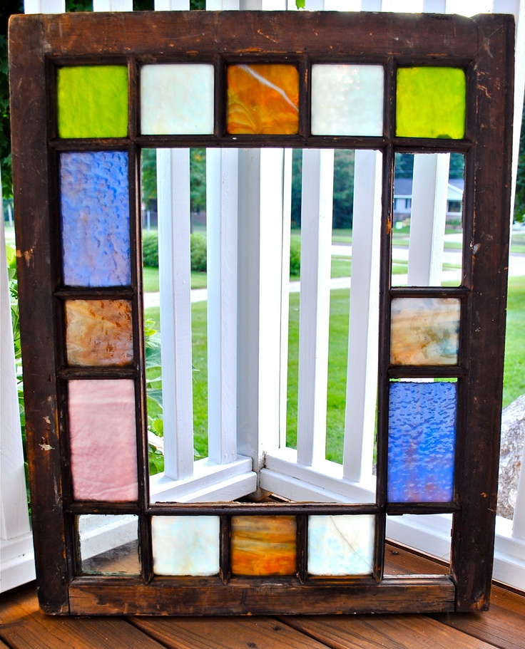 Glass Window Queen Anne Stained Glass Window