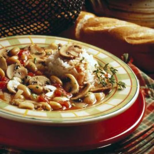 Quick Beef Stew With Mushrooms And White Beans Recipe — Dishmaps