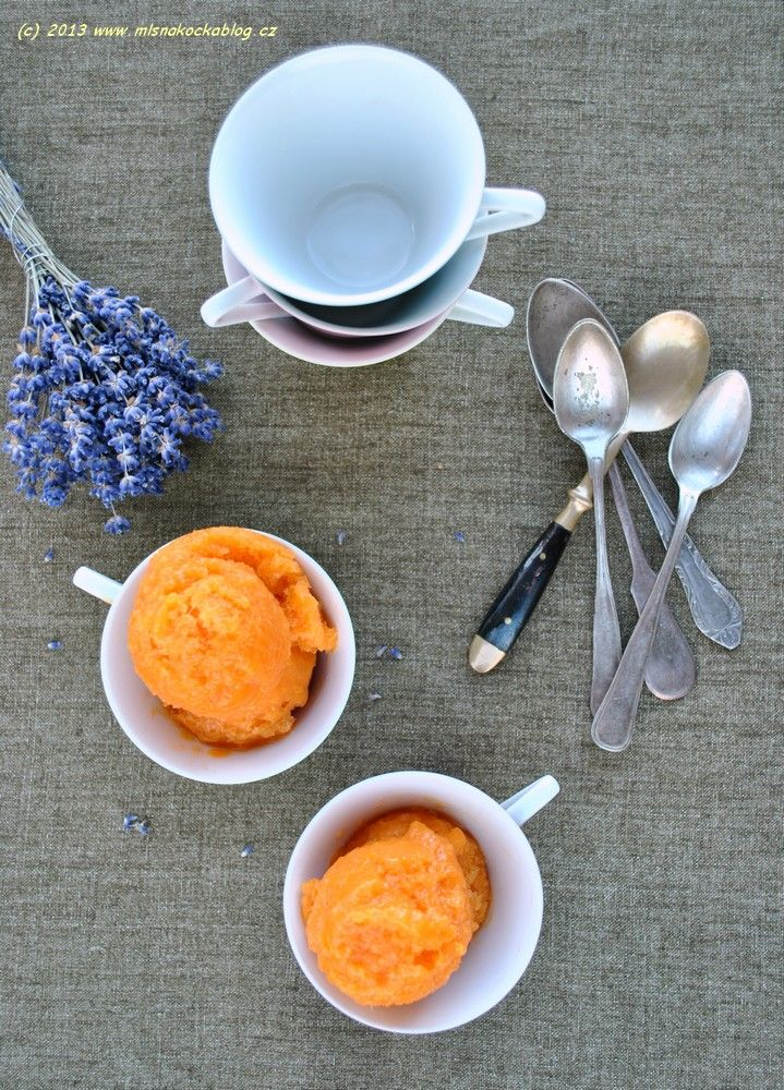 Apricot Lavender Sorbet | Fruit Recipes | Pinterest