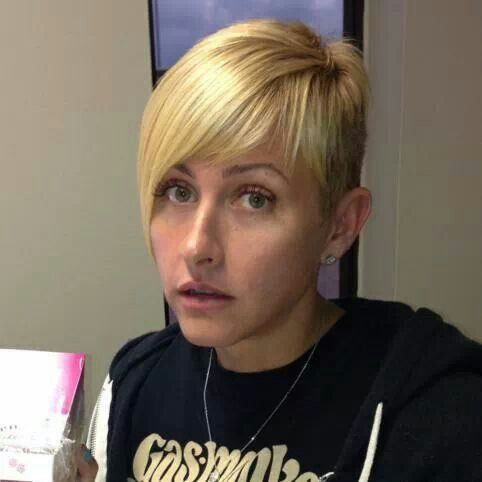 Short haircut (Christie Brimberry from Fast-n-Loud)