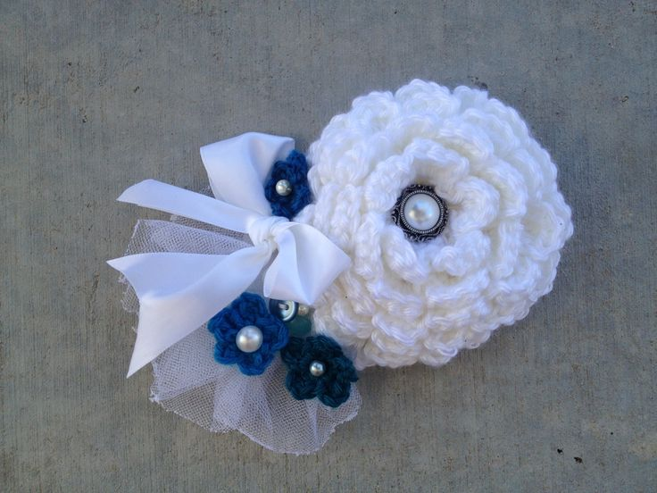 crochet Wedding hair piece My Finished Crochet Projects Pinterest