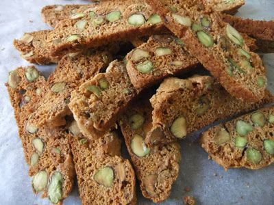 Honey and Pistachio Biscotti | desserts | Pinterest