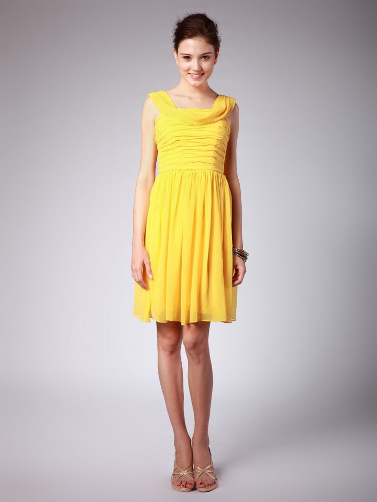 Yellow bridesmaid dress my style pinterest for Yellow dresses for wedding