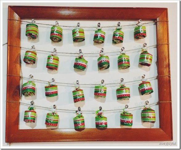 17 diy christmas advent calendar ideas for Homemade christmas advent calendar ideas